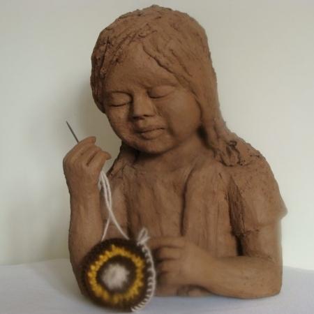 beeld #5 Arahuaca ( indiaans meisje)